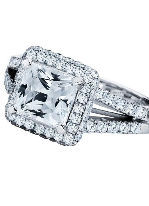 Vintage style asscher cut engagement ring.