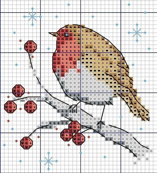Conjunto de motivos navideños Patrón de punto de cruz PDF + XSD