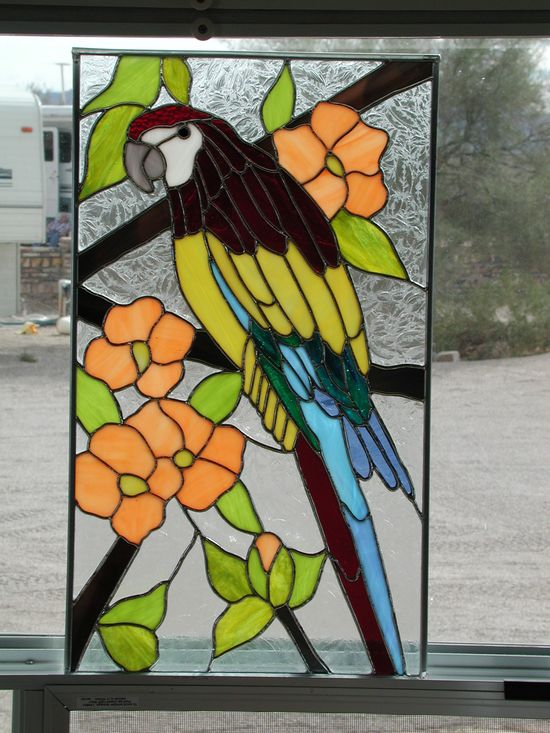Parrot with flowers