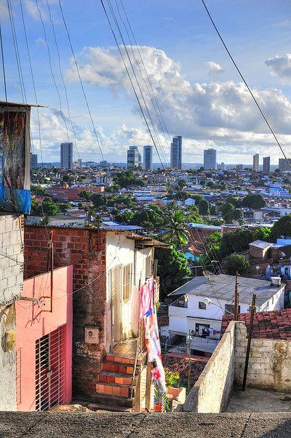 """Recife, as seen from the favela,"" Pernambuco, Brazil."