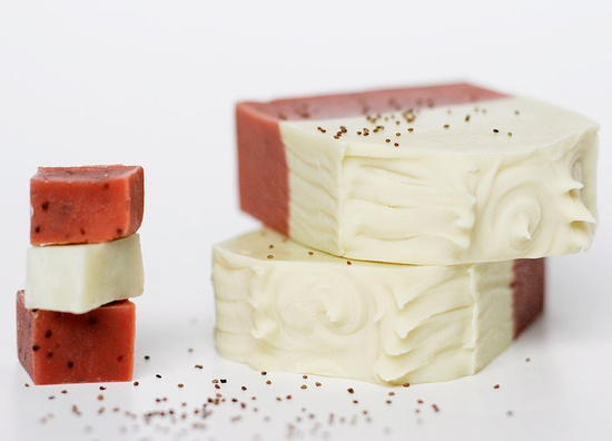 Handmade soaps - wild strawberry with almond