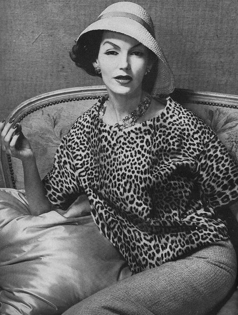 Wildly stylish in classic leopard print. #vintage #fashion #1950s