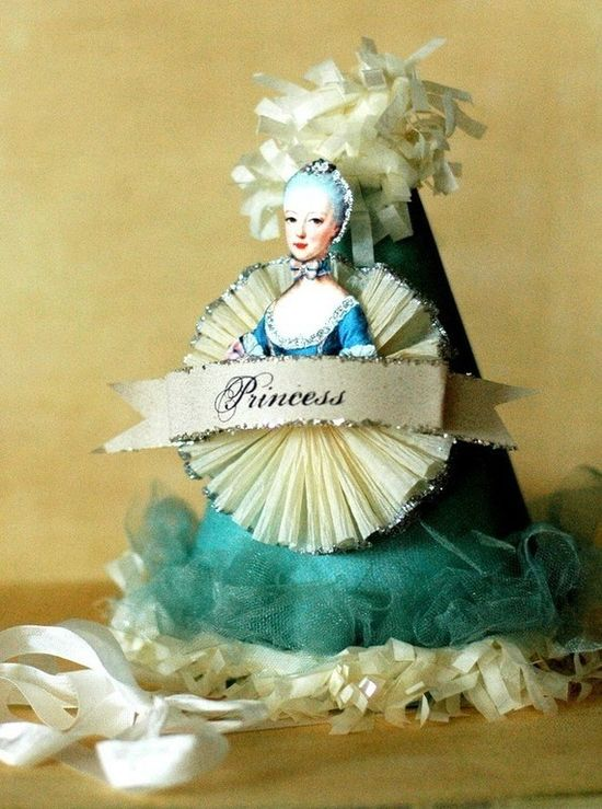 MARIE ANTOINETTE Tiffany Blue Party Hat by Joosycardco on Etsy