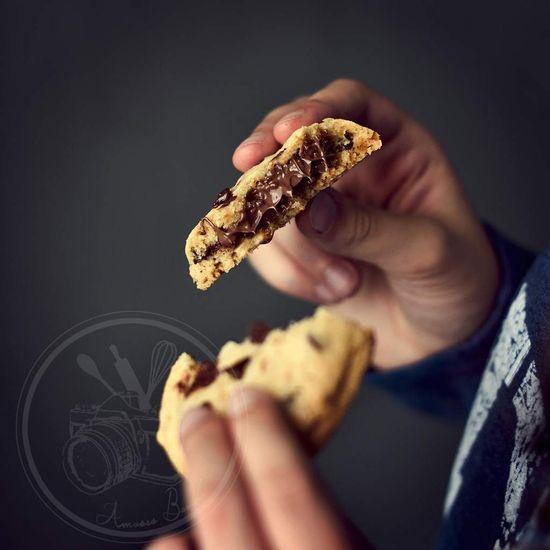 Cookies au coeur fon