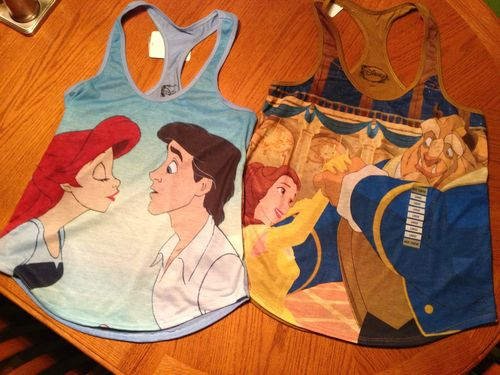 Disney tanks?! I would totally rock the Belle tank ♥