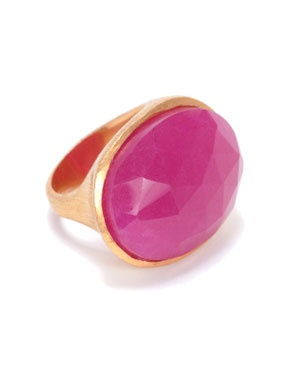Wendy Mink. ruby oval ring
