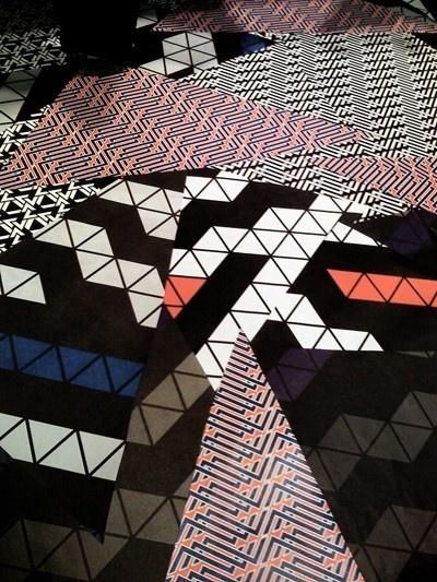 Amazing geometric floor patterns by Eileen.