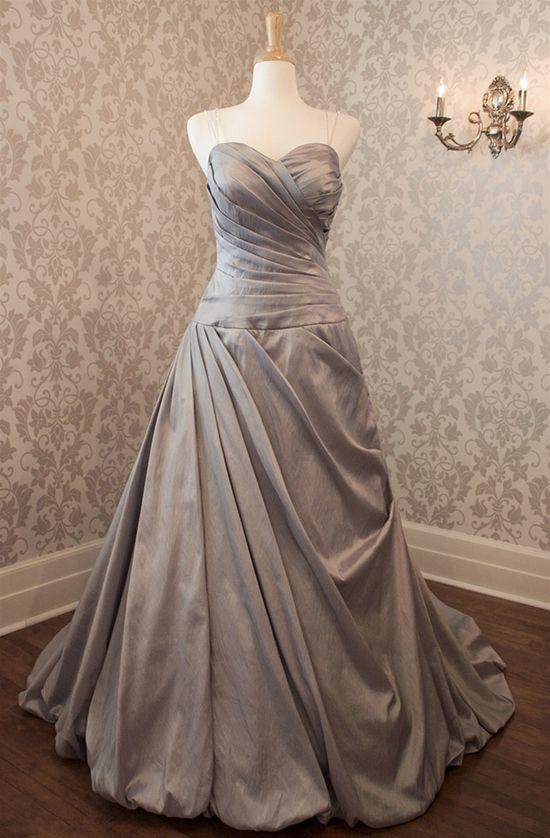 Elegant sweetheart with beading straps wedding dress