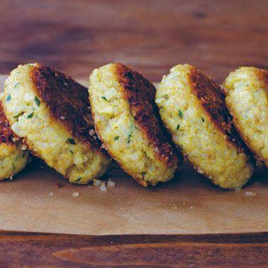 Quinoa patties         Little Quinoa Patties Recipe  at Epicurious.com