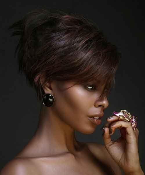 Edgy short hairstyles for black women