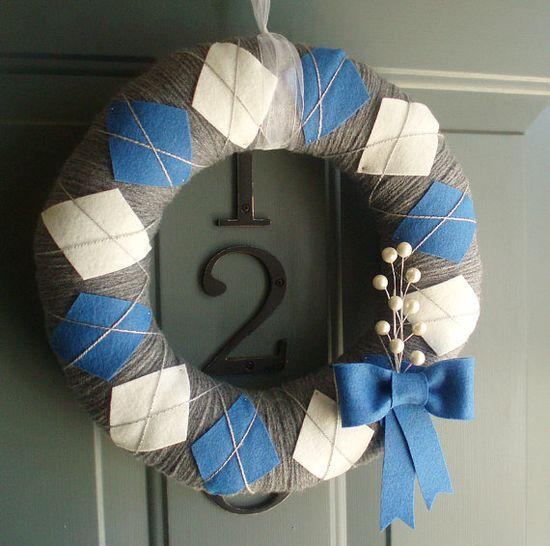 Beautiful argyle wreath