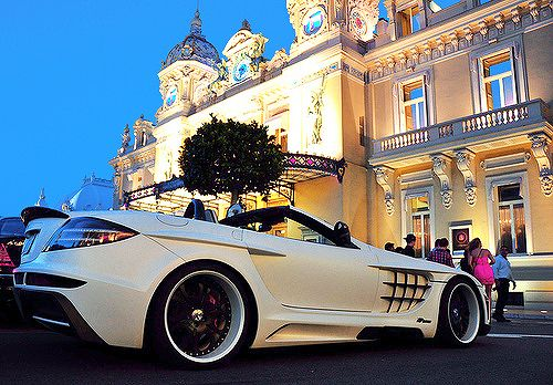 Mercedes-Benz +in front of the Monte Carlo casino