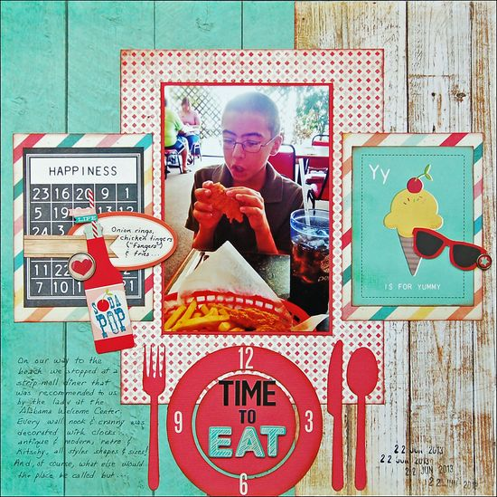 Time To Eat *Scraptastic July* - Scrapbook.com