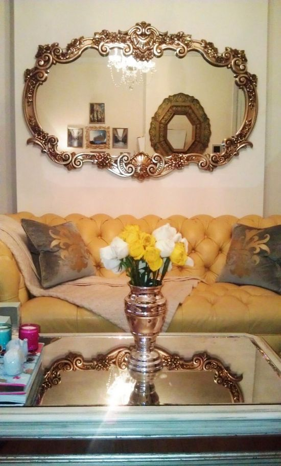 MG Decor: Statement Mirrors Make A Small Room Look Larger (before & after pics)