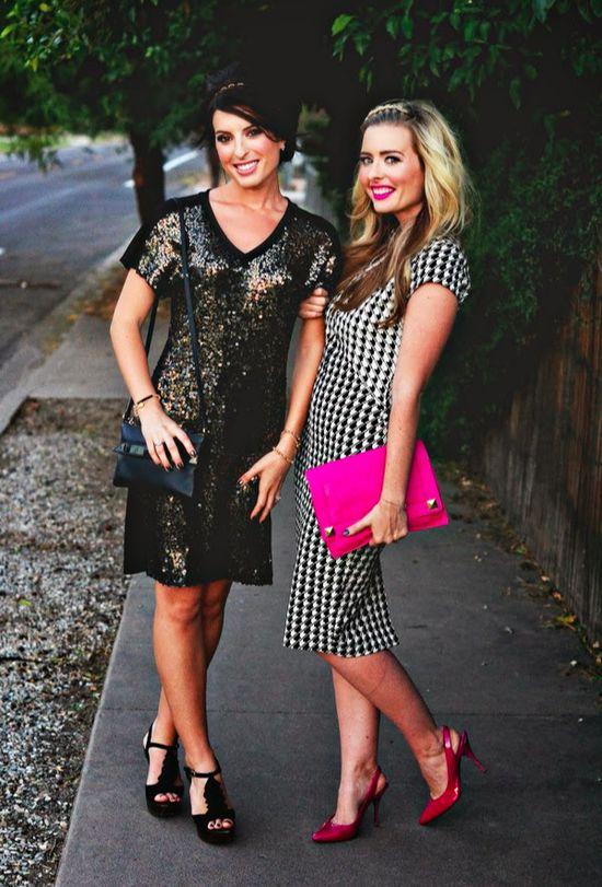 Beautiful best friends with great fashion sense!