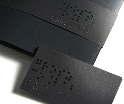 Engraved, business card & Belly band by Grosz Co Lab _