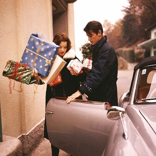 Christmas with Alain Delon and Romy Schneider, 1959