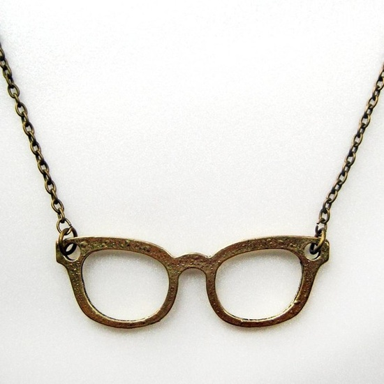 Glasses necklace.