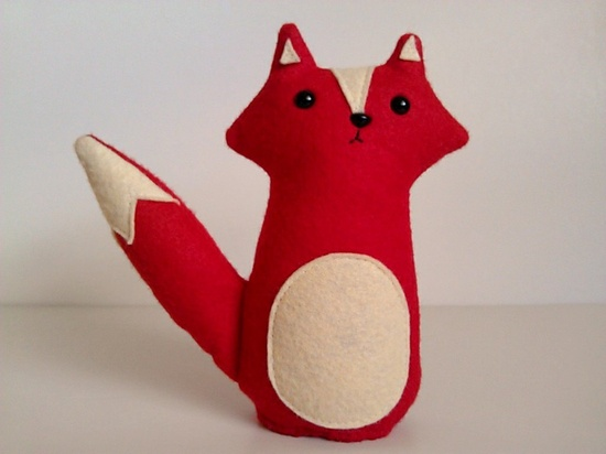 Wesley the red woodland fox made to order by sleepy by sleepyking, via Etsy.