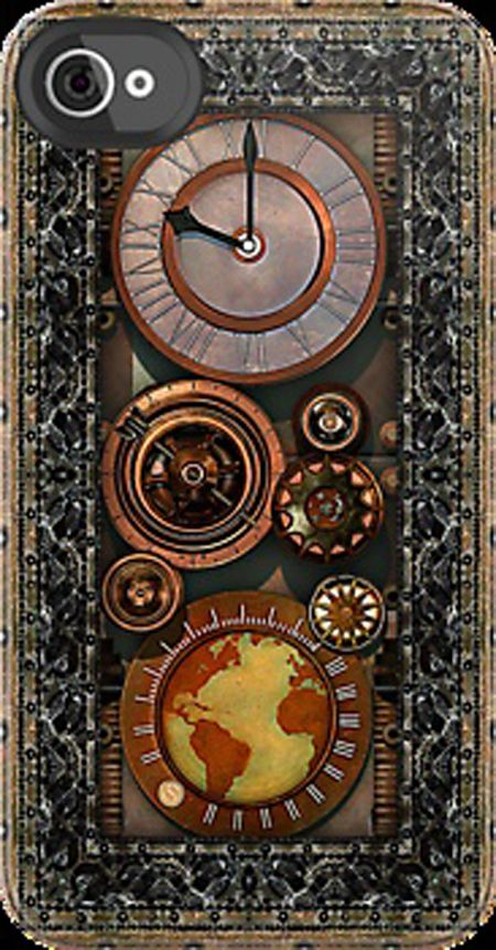 iPhone – Elegant Steampunk Timepiece. Oh.  My. God. Best phone case that could possibly ever exist.