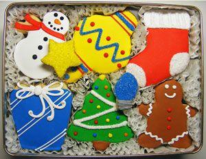 Tis The Season Decorated Cookies Gift Tin