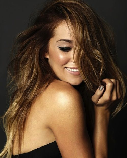 #Lauren #Conrad #glowing #ombre #hair #gold #tan #perfect #cat #eye #make #up