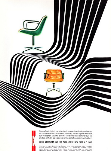 1966 ad for Knoll's Pollock executive chair
