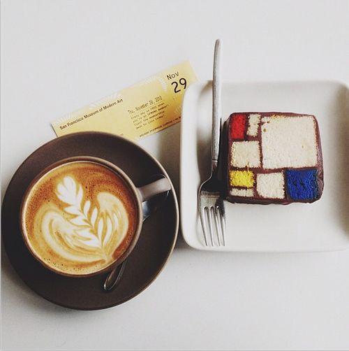 mondrian cake...
