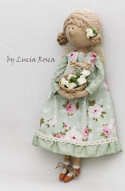 Apple Rose Handmade doll