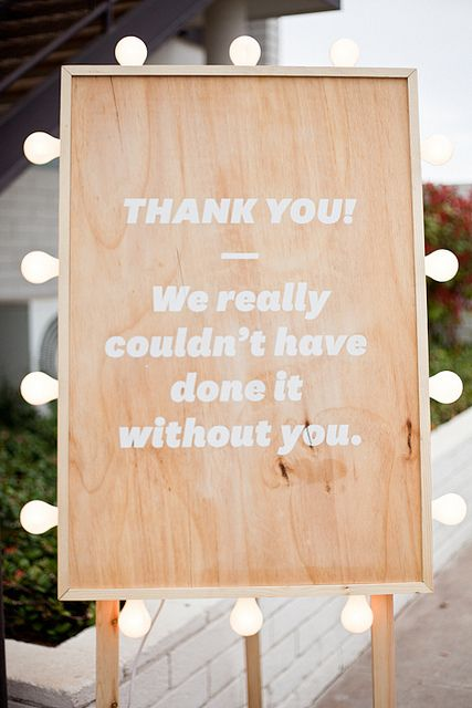thank you sign for wedding