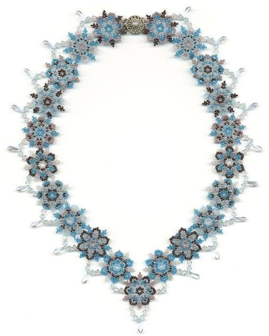 Snowflake seed bead necklace