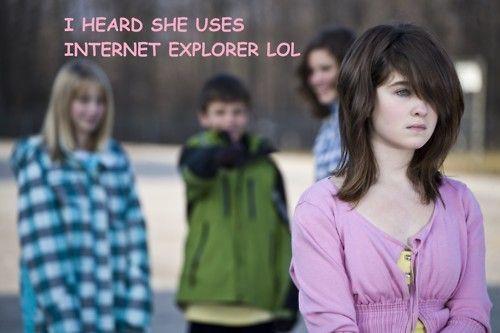 I Heard She Uses Internet Explorer  #lol #gag #funnny #funnyimages #9to5gag