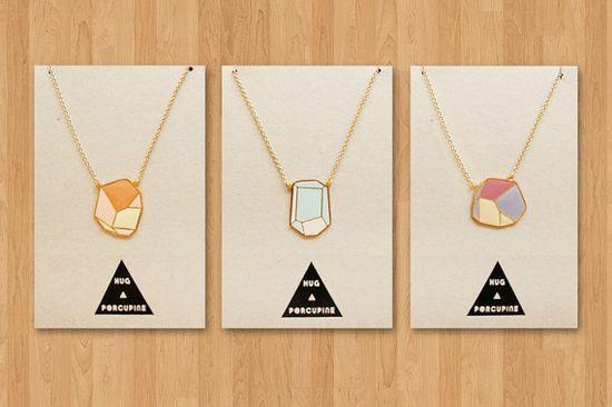 Geometric Rock Necklaces
