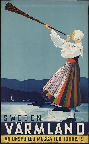 Travel poster or ad for Varmland Sweden #travel #poster #Sweden