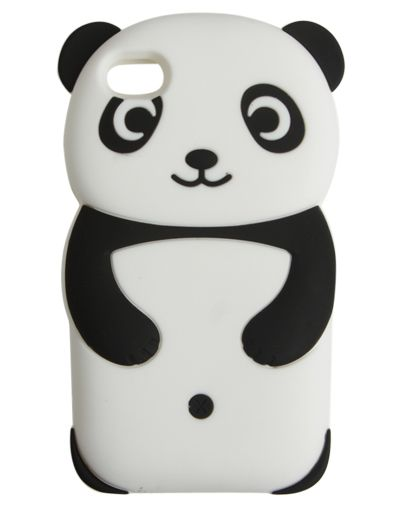 Rubber Panda Phone Case from Wet Seal