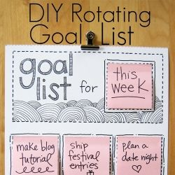 An easy tutorial for making a rotating goal list.  Customize it to fit your life!