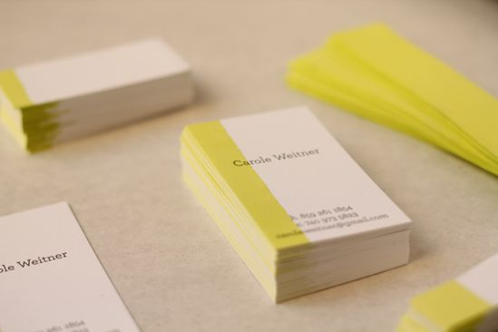 dip dyed business cards - love, love, love