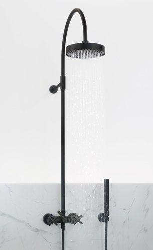 Black tapware + marble