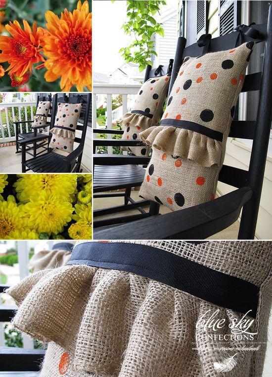 really cute burlap pillows
