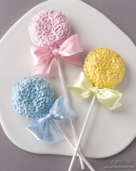sweet pastel cake pops