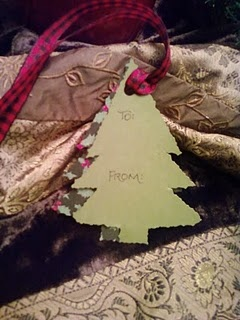 hand made gift tag.