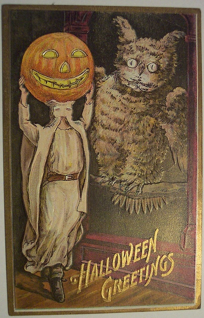 Vintage Halloween Postcard      Florence Bamberger by riptheskull, via Flickr