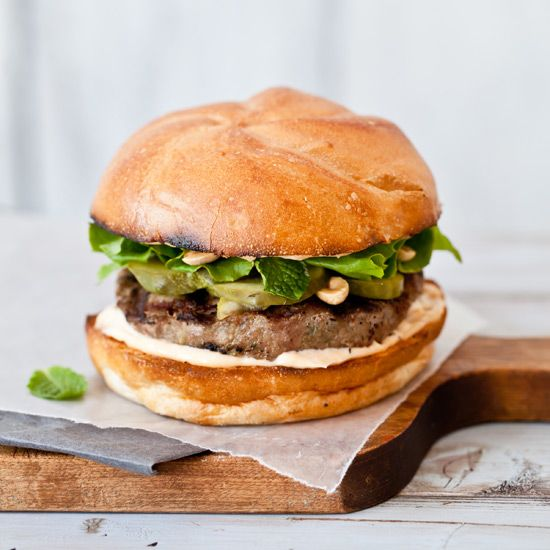 Thai Turkey Burgers // Terrific Thai Recipes: www.foodandwine.c... #foodandwine