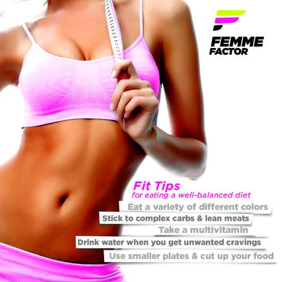 Femme Factor fit tips for healthy eating