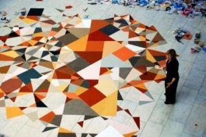 Colorful geometric floor by Rosiete.