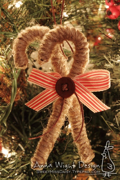 Candy Cane Ornament - love
