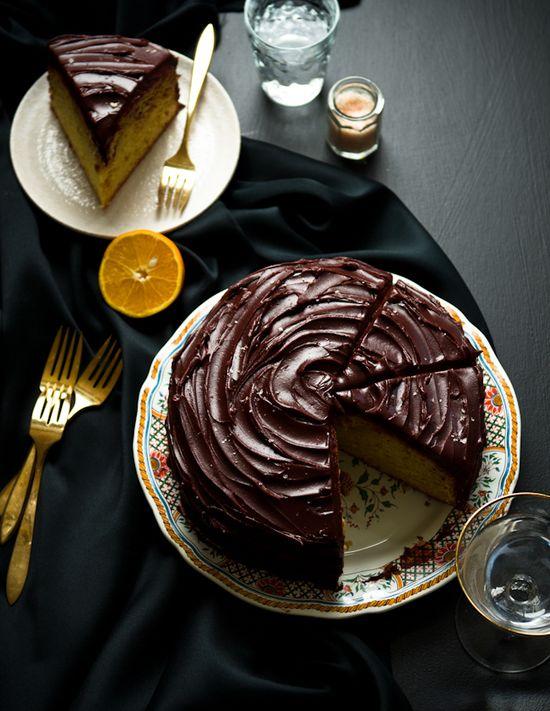 Orange-Olive Oil and Chocolate Cake