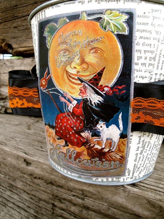 Halloween Bucket The Witching Hour Bucket by thechicadeeshop, $50.00