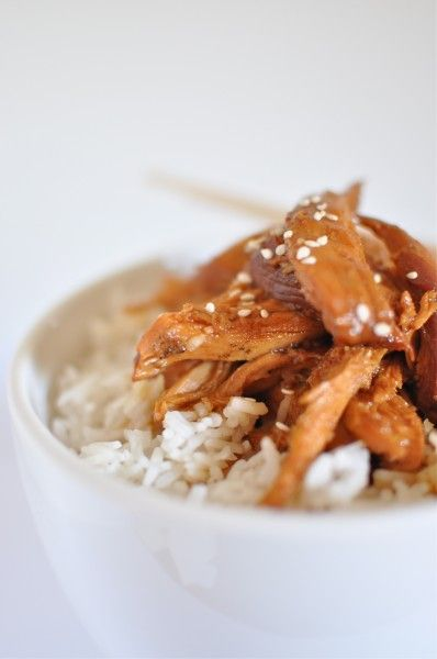 Teriyaki Chicken in Slow Cooker - chinese food just doesn't work in the crockpot - chicken too overdone.