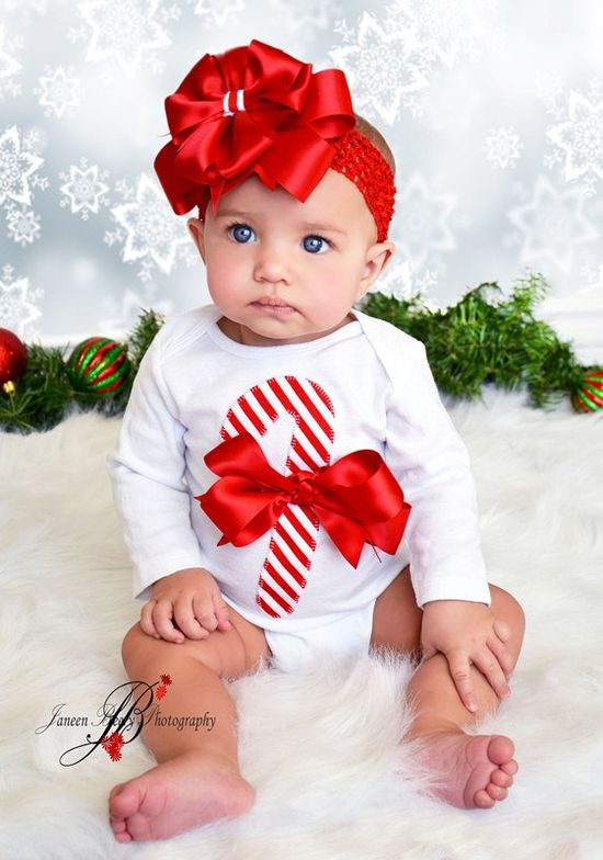 Adorable Christmas Candy Cane Onesie and Bloomer Set. $35.00, via Etsy.